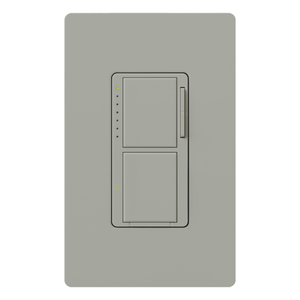 Lutron MA-L3S25-GR Incandescent/Halogen Dual Dimmer and Switch, Gray