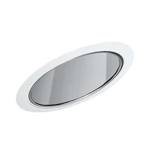 "Juno Lighting 602-CWH Slope Trim, Super Sloped, 6"", Clear Alzak Reflector/White Trim"
