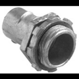 "Bridgeport Fittings 520-DC2 Flex Connector, Type: Screw-In, Size: 1/2"", Material Zinc Die Cast"