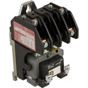 Square D 8903LO20V02 Contactor, Lighting, 30 Amp, 600 Volt AC, 120 Volt AC Coil, 2-Pole, 2 Normally Open Contacts
