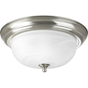 Progress Lighting P3925-09 Close to Ceiling Light, 2-Light, 75W, Brushed Nickel