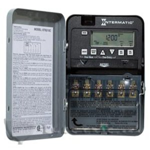 Intermatic ET1105C Time Switch, SPST, 24-Hour