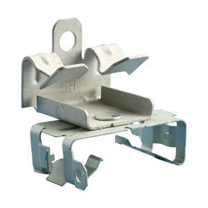 """Erico Caddy MAC258 Flange Clip For MC/AC Cable, Bottom Mount, Flange: 5/16 - 1/2"""""""