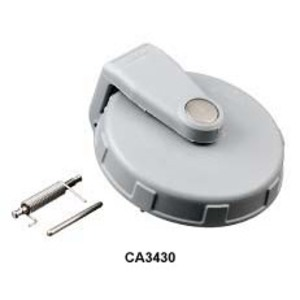 Hubbell-Kellems CA60 Cap for IEC Pin & Sleeve Receptacle, 60/63A,  Gray, Non-Metallic