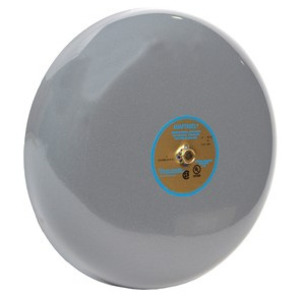"Edwards 435-6P1 Vibrating Bell, 125VDC, 0.12A, Diameter: 6"", Gray, Metallic"