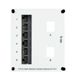 ON-Q AC1012 6pt Cat5e Ntw Interf Mod W/2key Open