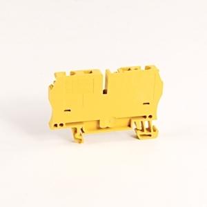 Allen-Bradley 1492-L4-Y Terminal Block, 33A, 600V AC/DC, Yellow, 26 - 10AWG, 4mm
