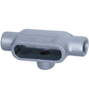 "Appleton T17 Conduit Body, Type: T, 1/2"", Form 7, Grayloy-Iron"
