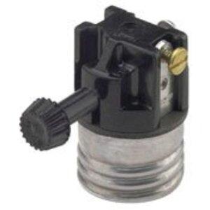 Leviton 7090-M Incandescent Lampholder, Medium Base, Turn Knob, Aluminum