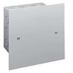 "Hubbell-Wiegmann SCF0808 Flush/Screw Cover, NEMA 1, 8"" x 8"", Steel/Gray Powder Coat"