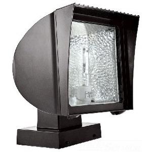 RAB FXF42XQT Flood Light, Compact Fluorescent, 1 Light, 42W, Bronze