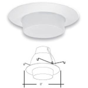 """Elite Lighting AF606WH Shower Trim, 6"""", White"""