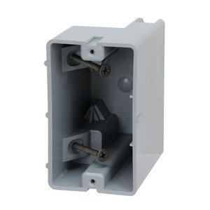 "Madison MSB1G Switch/Outlet Box, 1-Gang, 3-1/4"" Deep, Non-Metallic"
