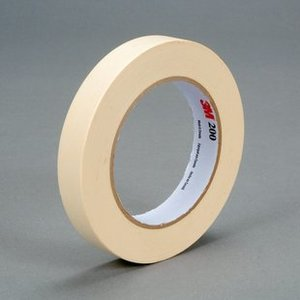 3M 200-18MMX55M Paper Masking Tape, 18mm x 55m, Natural Color