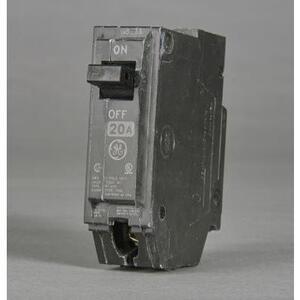 GE Industrial THHQL1120 Breaker, 20A, 120/240VAC, 1P, 22kAIC, Stab-In