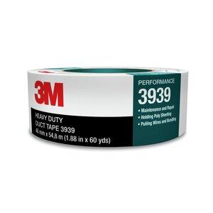 3M 3939-72MMX55M Heavy Duty Duct Tape, Silver, 72mm x 55m