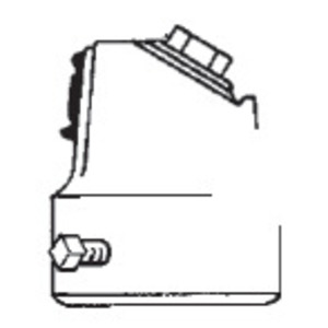 "GE Lighting SFADB-001 Slip Fitter Adapter, 2"""