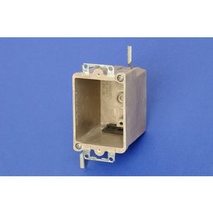 "Allied Moulded 9363-EW Switch/Outlet Box, 1-Gang, Depth: 2-27/32"", Old Work, Non-Metallic"