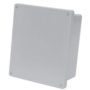 "Allied Moulded AM1648RT Enclosure, Hinge Cover, NEMA 4X, 16"" X 14"" x 8"", Gray, Fiberglass"