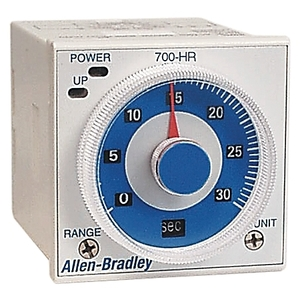 Allen-Bradley 700-HRC12TA17 Timing Relay, On-Delay, 100-240VAC, 1PDT, Instantaneous Contact