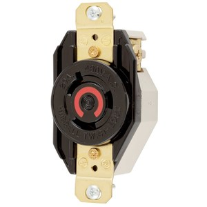 Hubbell-Kellems HBL2340 Locking Single Receptacle, 20A, 480V, L8-20R, Black