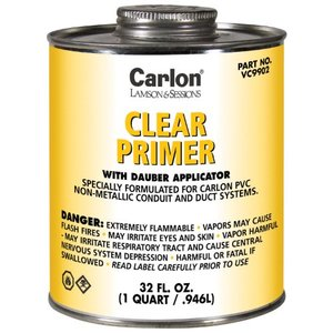Carlon VC9902 Clear Primer - Quart 31377