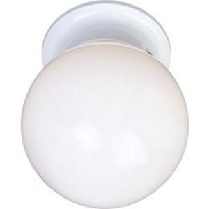 Maxim Lighting 5889WTWT Globe Fixture, 1-Light, 60W, Flush Mount