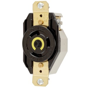 Hubbell-Kellems HBL2610 Twist-Lock, Single Flush Receptacle, 30A