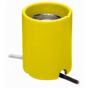 Leviton 8750 HID Lampholder, Mogul Base, Keyless, Yellow
