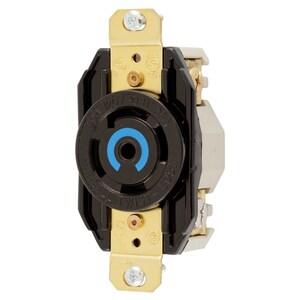 Hubbell-Kellems HBL2810 Twist-Lock, Single Flush Receptacle, 30A