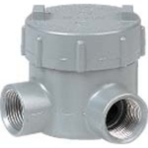 "Hubbell-Killark GEML-2 Conduit Outlet Box, Type GEML, (2) 3/4"" Hubs, Aluminum"