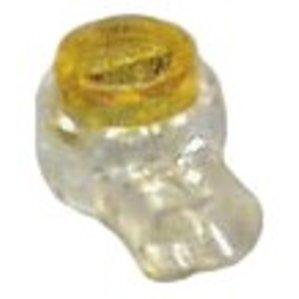 3M UY2(BX) Butt Connector, 26 - 19 AWG, 2-Wire, Gel-Filled Polypropylene, Moisture Resistant, 100/PK