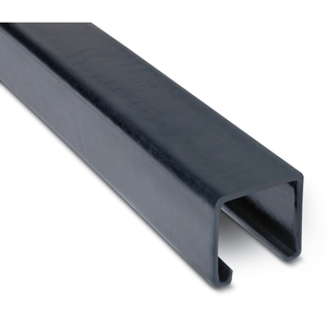 "Ocal A12-G PVC Coated Channel, No Holes, 1-5/8"" Deep, 10' Length, Steel, Gray"