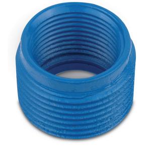 """Ocal RE61-G Reducing Bushing, Size 2"""" x 1/2"""", Blue, Steel/Urethane Coated"""