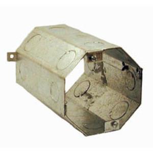 "Hubbell-Raco 276 4"" Concrete Ring, 6"" Deep, 1/2 - 3/4"" KOs, Steel"