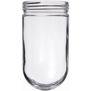 RAB GL100 Jelly Jar Glass Globe, Clear, 150W Max
