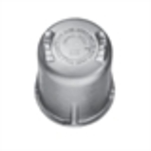 "Cooper Crouse-Hinds GUA047 Dome Cover For GUA Conduit Outlet Box, Opening: 2"", Thread Pitch: 12, Depth: 2"", Aluminum"