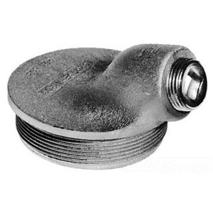 "Cooper Crouse-Hinds GUA062 Conduit Outlet Box Cover, Diameter: 3"", Aluminum"