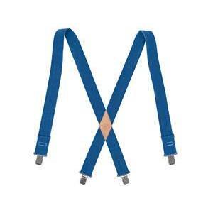 """Klein 60210B Blue Suspenders - Strap Width: 2"""""""