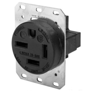 Hubbell-Kellems HBL8450A Single Receptacle, Straight Blade, 50A