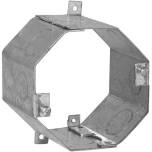 "Hubbell-Raco 272 Concrete Ring, 3"" Deep, 1/2"" & 3/4"" KOs, Steel"