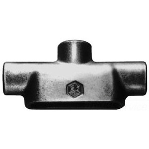 """Cooper Crouse-Hinds TB38 Conduit Body, Type: TB, Size: 1"""", Form 8, Material: Iron Alloy"""