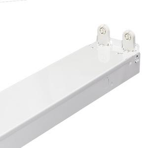 Simkar CH232-B11-UNV Fixture Strip 2 Lamp, White Powder Coated