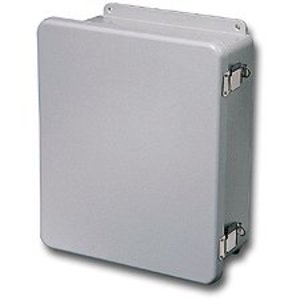 "Stahlin J806HPL Junction Box, NEMA 4X, Hinge Cover, 8"" x 6"" x 4"", Fiberglass"
