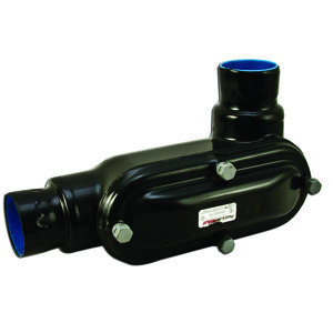"Plasti-Bond PRHLR58 Conduit Body, Type: LR, FM8, Size: 1-1/2"", PVC Coated Iron"
