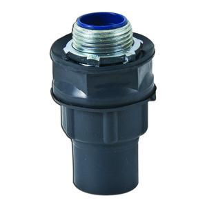 """Plasti-Bond PR5334 Liquidtight Connector, Straight, 1"""", PVC Coated Steel"""