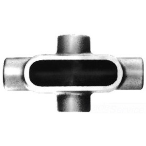 """Cooper Crouse-Hinds X28 Conduit Body, Type: X, Size: 3/4"""", Form 8, Material: Iron Alloy"""