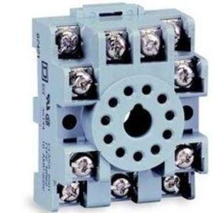 Square D 8501NR45B Relay, Socket, 14 Blade, 10A, 300VAC, DIN Rail Mount, Screw Clamp