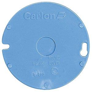 """Carlon A470D 4"""" Round Cover, 1-Gang, 1/2"""" Knockout, Non-Metallic"""