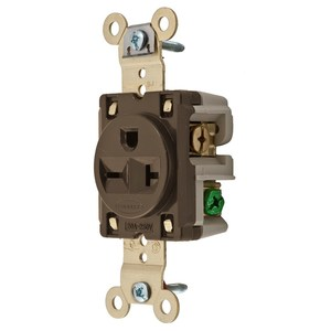 Hubbell-Kellems HBL5461 Single Receptacle, Heavy Duty Specification, 20A